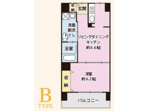Bタイプ(敷金0円プラン)