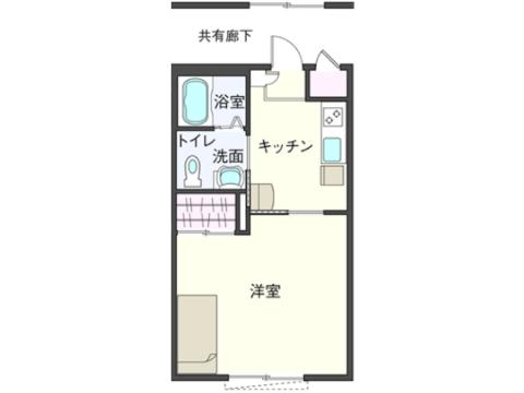 1Kタイプ①(102・103・202・302・305・306号室)