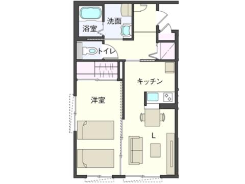 1LDKプラン①(105・206号室)