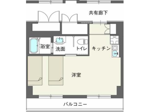 1DKプラン(401・402号室)