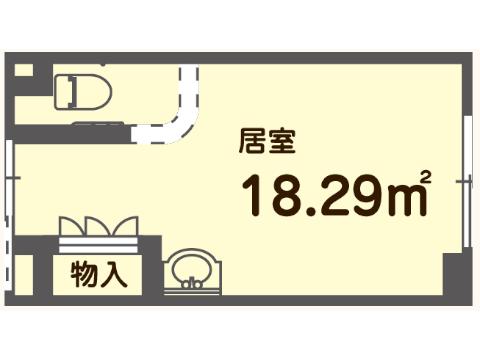 プラン①(1階北面 / 116~120号室)