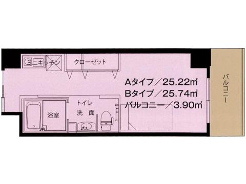 1号館 A・Bタイプ <1人入居>