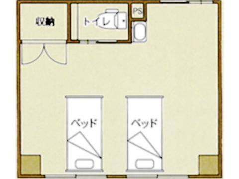 Cタイプ(2人部屋)