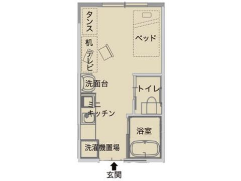 プラン[1]一般居室(自立可)【家賃相当額毎月払】