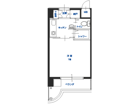 Bタイプ<406/407/506/507号室>